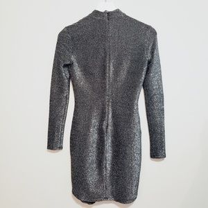 Forever 21 Dresses - Forever 21   Long Sleevr Silver Dress - Small